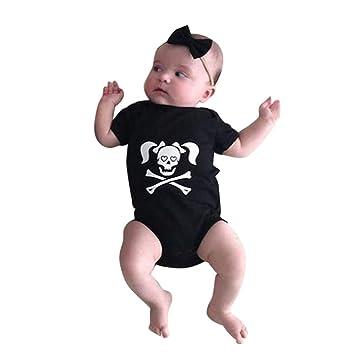 e3698bcb0e79 Amazon.com   Baby Boys Girls Skull Print Halloween Costume Long ...