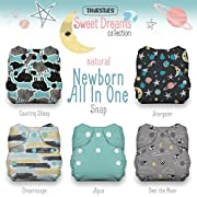 Thirsties Package, Snap Natural Newborn All In One, Sweet Dreams
