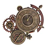 Steampunk Astrolabe Wall Clock Cold Cast Bronze