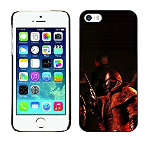 CASECO - iPhone 5 / 5S - Fall0out Apocalypse Soldier - Delgado Negro Plástico caso cubierta Shell Armor Funda Case Cover - Fall0out Apocalypse Soldado