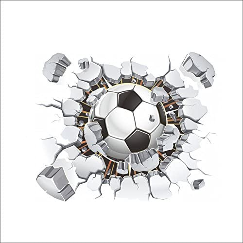 Pegatina de pared vinilo adhesivo futbol pelota balon efecto 3D ...