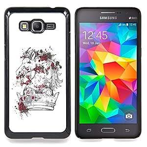 """Qstar Arte & diseño plástico duro Fundas Cover Cubre Hard Case Cover para Samsung Galaxy Grand Prime SM-G530F G530FZ G530Y G530H G530FZ/DS (El caballo Majestic"""")"""
