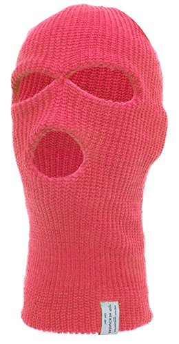 TopHeadwear Face Ski Mask 3 Hole -Hot Pink