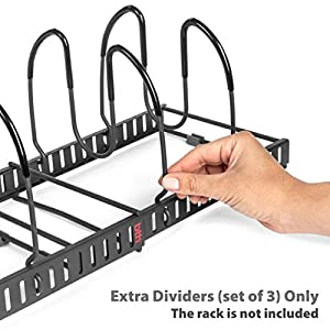 BetterThingsHome Expandable Lid Holder Extra Wire Dividers, Set of 4