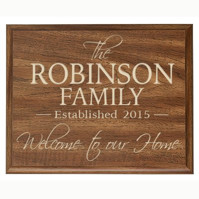343782bcbf797 LifeSong Milestones Personalized Family Established Year Signs, Custom  Established Family Name Sign Welcome to Our Home Engraved with Family Name  and ...