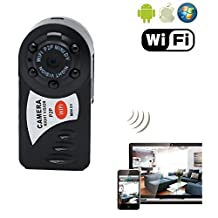 Lychee® Pocket Size Mini Wireless IP Camera Portable WiFi HD DV Hidden Spy Camera Security Monitor by iPhone, iPad, Android Phone, Night Vision Support