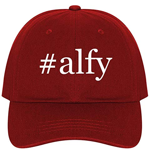 (#Alfy - A Nice Comfortable Adjustable Hashtag Dad Hat Cap, Red)
