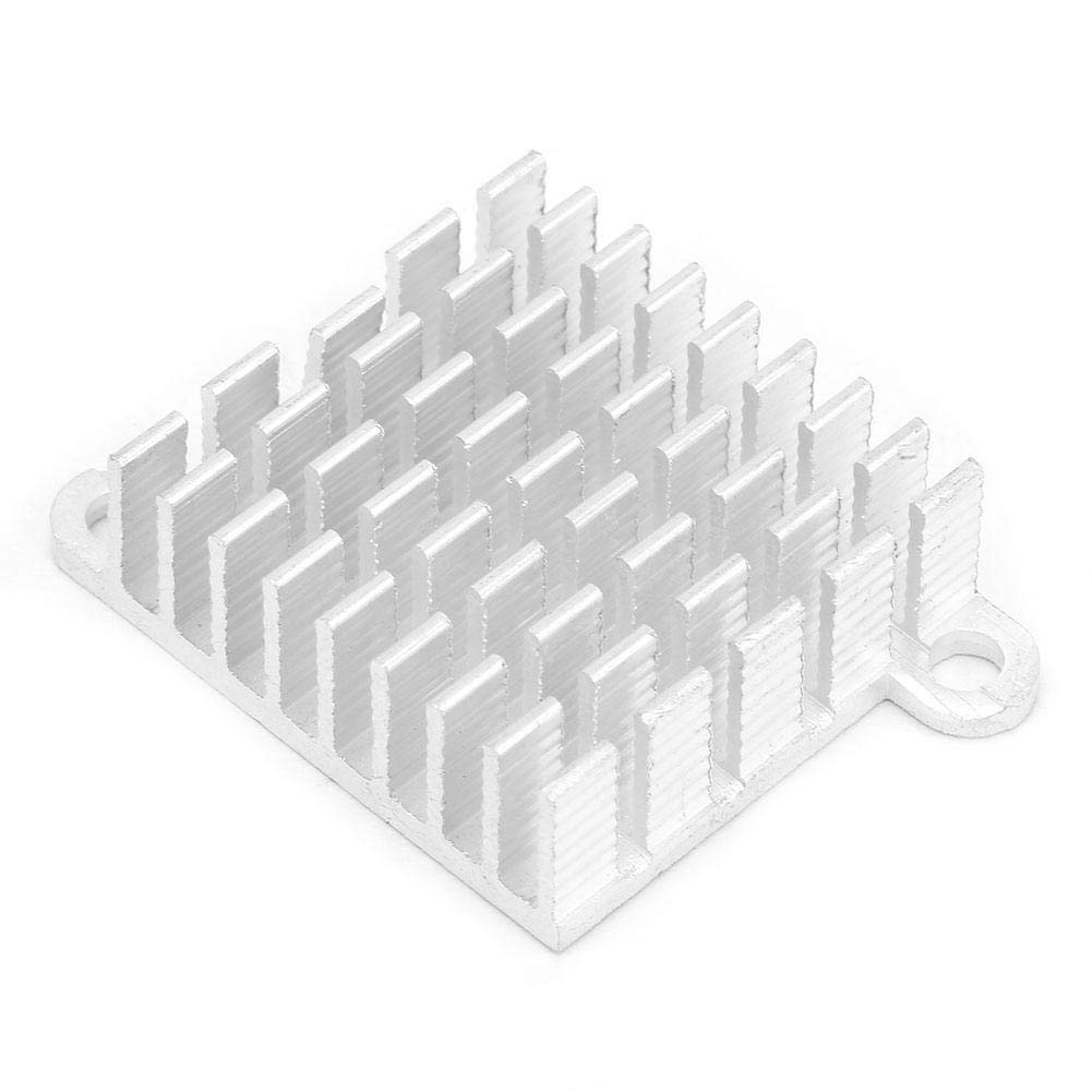 Aluminum Heatsink Cooling Fin 26/×10/×26mm Circuit Board Cooling Fin HeatSink Cooler Chip Heat Sink with Pass Hole for CPU Electronic Chip Router White
