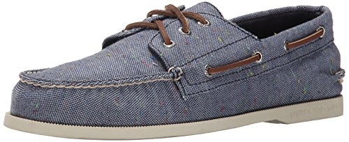Sperry Top-Sider Mens AO 3 Eye Fleck Canvas Boat Shoe Blue 11 M US