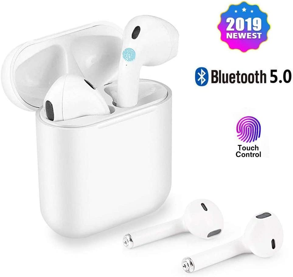 Wireless Earbuds Bluetooth Cordless Headsets Waterproof Earphones Mini Sports Headsets for iPhone Xs Max XS XR X 8 7 6s and Galaxy Samsung S10 S9 Plus S8 S8 S7 iOS and Android Devices.