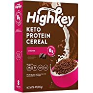 HighKey Protein Snacks - Keto Breakfast Cereal - 0 Net carb & Zero Sugar, Grain & Gluten Free Cereals Snack - Non GMO Food - Paleo, Diabetic, Ketogenic Friendly Flakes - Healthy Grocery Foods - Cocoa