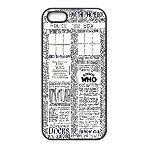 iPhone 5S Protective Case - Dr.Who Quotes Hardshell Carrying Case Cover for iPhone 5 / 5S wangjiang maoyi by lolosakes