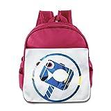 BestGifts Custom Cute Finding Fish Kids School Bagpack For 1-6 Years Old Pink