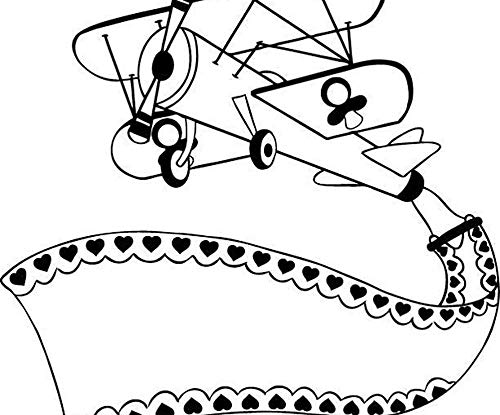 Airplane - Rubber Stamp On Wood (1ks), Aladine, Rubber, Stamps, Scrapbooking Paper