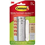 Command Large Universal Picture Hangers w/Frame Stabilizer Strips, 3-Hangers, Hangs 5-Pounds (17047-3ES)