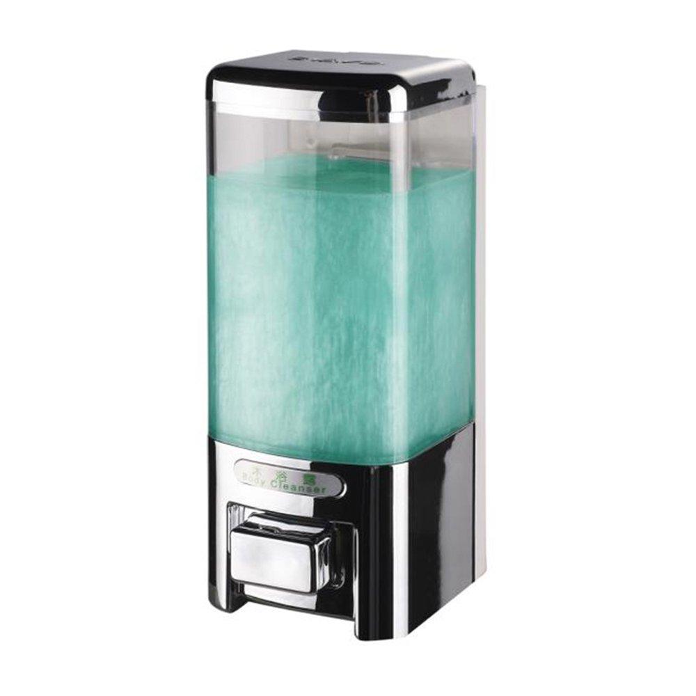 SVAVO V-8101 Plastic Wall Mount Hand Soap Dispenser for Hotel Kitchen Bathroom White, Chrome 500ml Pack of 1