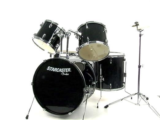 Amazon.com: Fender Starcaster Drum Set - Black: Musical Instruments