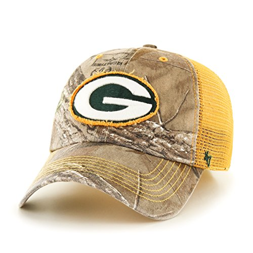 '47 NFL Green Bay Packers Realtree Huntsman Closer Stretch Fit Hat, Large/X-Large, Realtree/Gold ()