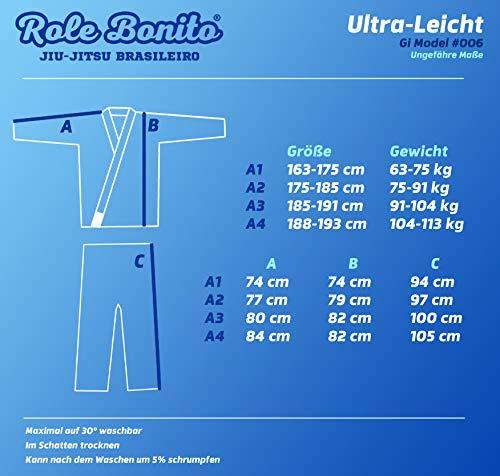 Wei/ß Role Bonito Ultra Leicht BJJ-Gi