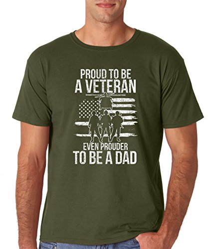 Amazon.com: AW Fashions Proud to be a Veteran, Prouder to be a Dad Premium Mens T-Shirt: Clothing