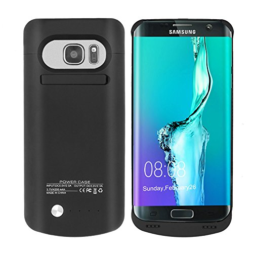 Galaxy S7 Edge Battery Case [5,200 mAh] High Capacity Slim Juice Battery Case Charger for Samsung Galaxy S7 Edge- BLACK [24 Month Warranty]