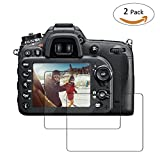 TedGem 2 Pcs Screen Protector for Nikon D7100 D7200 D600 D610 D800, Ultra-Clear Anti-scratch LCD Tempered Glass Screen Protector Film for DSLR Camera [No-Bubble] [9H Hardness] [Crystal Clear]