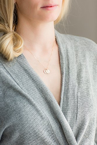 letter disc JUST THE DISC add a disc add to existing necklace extra gold filled or sterling silver hammered initial disc