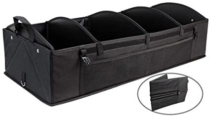 da1e15d09c68 INNO STAGE Car Boot Organiser, Foldable Tidy Auto Storage Bag, Large Car  Trunk Organizer,Heavy Duty Jumbo Shopping Organization with Removable  Septum, ...
