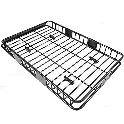 64'' Universal Black Roof Rack Cargo Carrier w/ with Extension Luggage Hold Basket SUV by Unknown (Image #2)