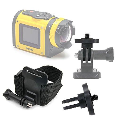 DURAGADGET Premium Quality Kodak Action Camera Wrist Mount - Adjustable Wrist Strap Handle Mount Fastening for NEW Kodak PixPro SP360 & Kodak Pixpro SP1
