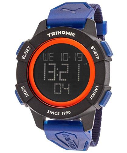 Amazon.com: PUMA Trinomic Mens Quartz Watch with LCD Dial Digital Display and Grey Nylon Strap PU911271003: Watches