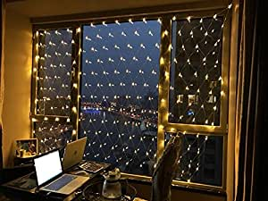 NETLT Led net light, fishing lights,fairy series lights,christmas outdoor waterproof decorative light?include tail?-Warm 4m6m(157x236inch)