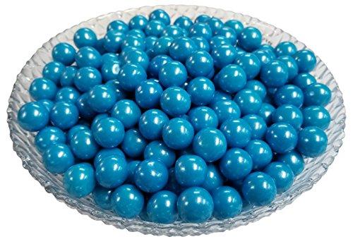 (Gumballs Glimmer Blue Bubble Gum 2 Pounds 0.5 inch Mini)