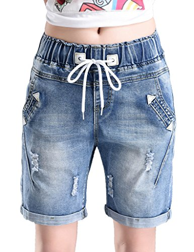 PHOENISING Womens Drawstring Roll Over Distressed product image