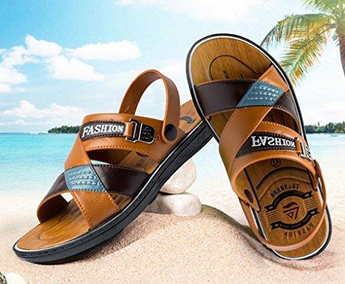 Open Flops Buckle Pool ACMEDE Fashion Summer Flip Brown Lightweight Holidays Men Men Beach Toe Leisure Sandals Slide HHfBI0