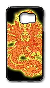 Personality customization Case, S6 Case, Samsung Galaxy S6 Case Cover, China Dragon Oriental Style 31 Retro Protective Hard PC Back Case for S6 ( Black ) At J-15 Cases