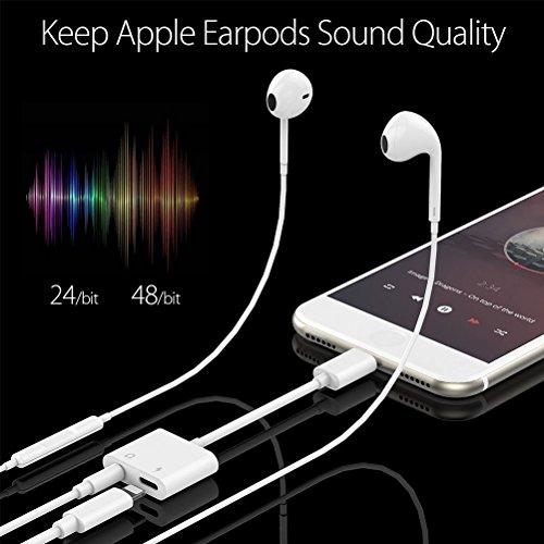 IPhone 7 Charging and Headphones adapter, Supfox lightning