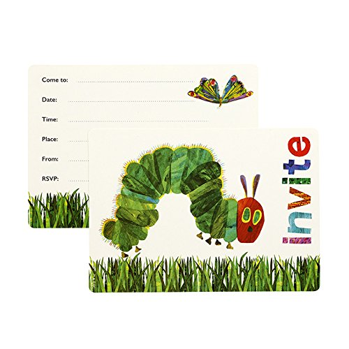 World of Eric Carle, The Very Hungry Caterpillar Party Supplies, Party Invitations, 12 Pack]()