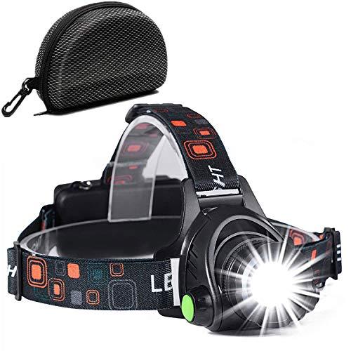 Linterna Frontal, a Prueba de Agua y Recargable con USB, Función de Zoom, Linterna Frontal de Led, Linternas Frontales…