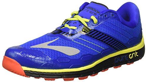 Brooks Herren PureGrit 5 Laufschuhe Blau (Electric Brooks Blue/Black/Lime Punch)