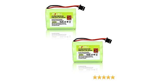 AAA3 800 mAh 3,6 V NiMH Teléfono inalámbrico batería recargable de repuesto para tipo 22, BT909 (2pcs): Amazon.es: Electrónica
