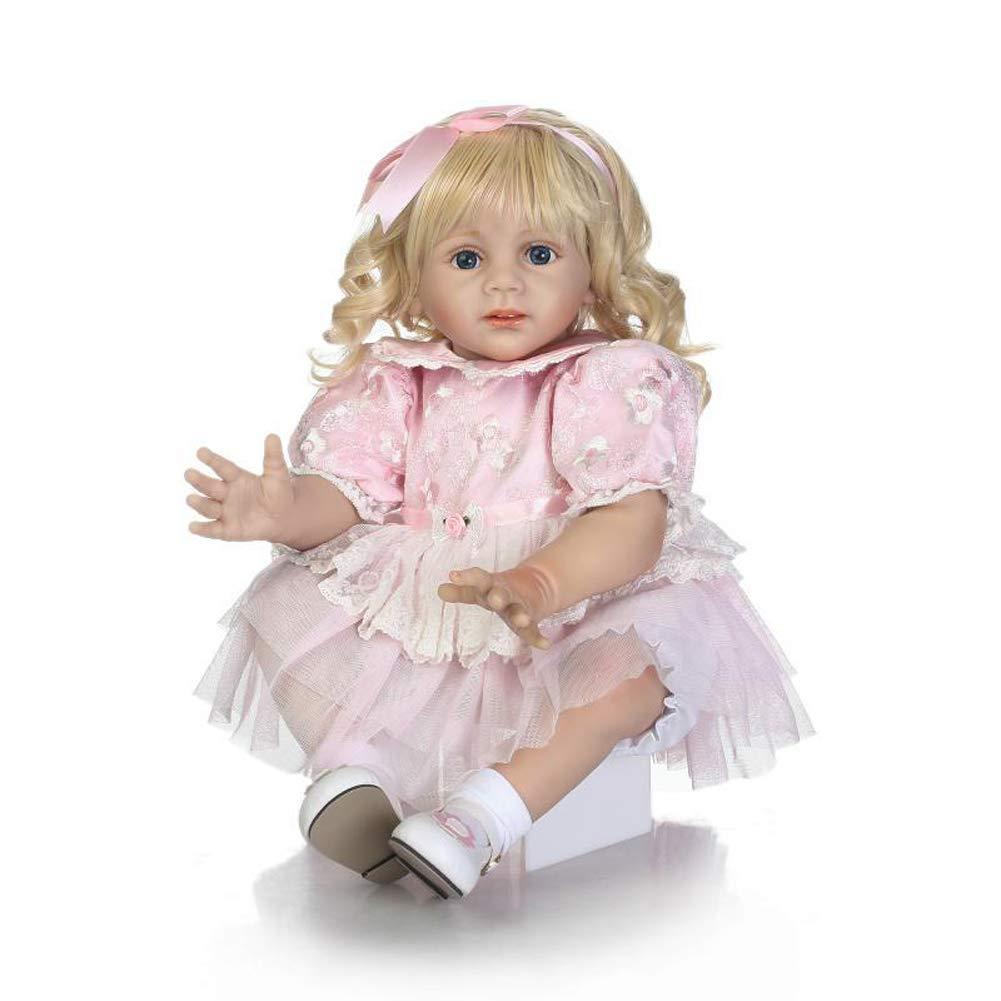 MGF Reborn Baby Doll, Suave Silicona Vinilo bebé 24 Pulgadas Lindo Regalo de muñeca Set para Edades 3 +