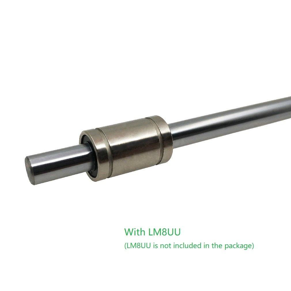 2 ReliaBot Lot de 2 barres de mouvement lin/éaire en chrome tremp/é 8 x 200 mm 250 mm 300 mm 320 mm 330 mm 350 mm 362 380 mm 400 mm 410 mm 450 mm 500 mm 600 mm 200mm