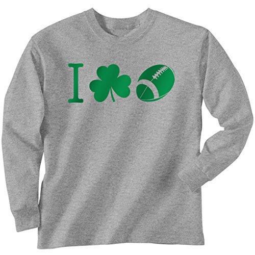 ChalkTalkSPORTS Football Tshirt Long Sleeve I Shamrock Football Icon