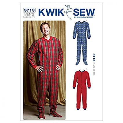 Amazon.com: Kwik Sew Men39;s Easy Sewing Pattern 3713 Onesie All-in ...