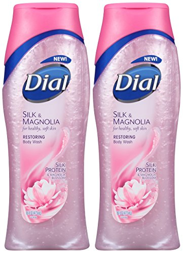 Dial Moisturizing Body Wash, Silk & Magnolia with Silk Protein and Magnolia Blossom, 16 oz, (Pack of 2) - Body Lotion Moisturizing Magnolia