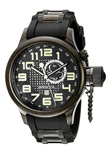 Invicta Men's 5861 Russian Diver Black Dial Polyurethane ...
