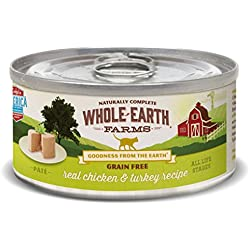 Whole Earth Farms 24 Case Grain Free Real Chicken & Turkey Recipe, 2.75 oz