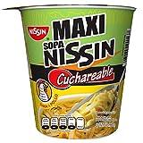 Nissin Pasta de Trigo para Preparar Sopa Instantánea, Sabor Pollo, 12 Piezas