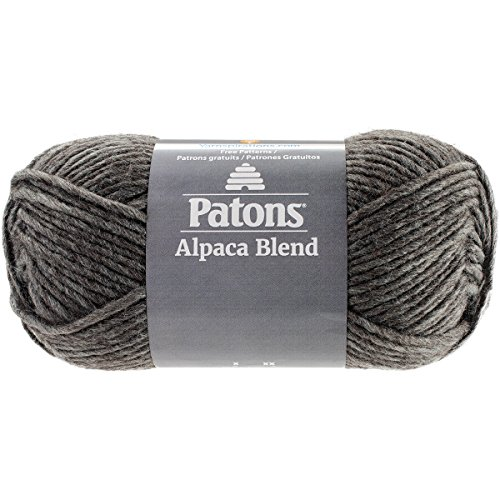 Patons  Alpaca Blend Yarn - (5) Bulky Gauge  - 3.5oz -  Slate -  Machine Washable  For Crochet, Knitting & Crafting